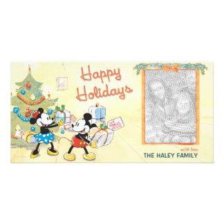 Tarjeta clásica de la foto del día de fiesta de tarjeta personal con foto