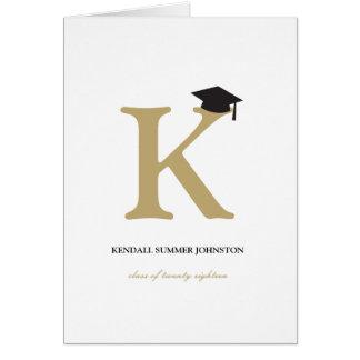 Tarjeta clásica de la invitación del graduado de