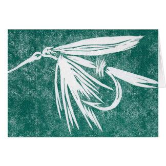 Tarjeta clásica de la mosca de la trucha