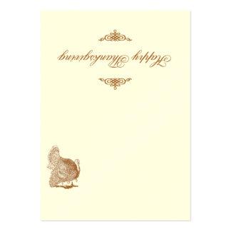 Tarjeta clásica del lugar de la acción de gracias tarjetas de visita