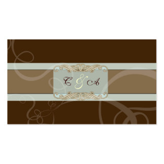 Tarjeta clásica del lugar del boda del chocolate o plantilla de tarjeta de visita