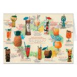 Tarjeta clásica del menú del cóctel de Tiki