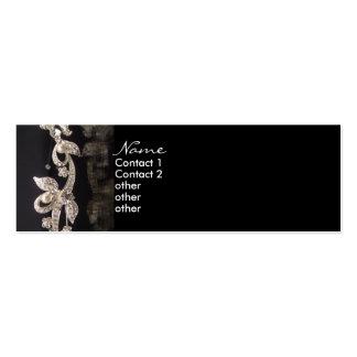 Tarjeta clásica del perfil de la joyería del tarjetas de visita mini