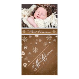 Tarjeta clásica, festiva de la foto del día de fie tarjetas personales con fotos