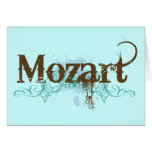 Tarjeta clásica fresca de Mozart