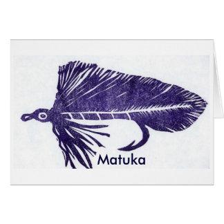 """Tarjeta clásica """"Matuka púrpura """" de la mosca de"""