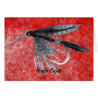 """Tarjeta clásica """"mosquito de la mosca de la trucha"""