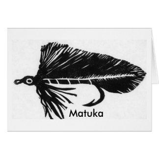 """Tarjeta clásica """"negro Matuka """" de la mosca de la"""