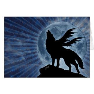 Tarjeta coa alas del lobo