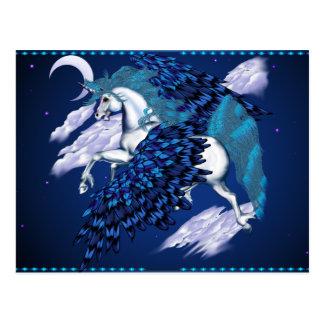 Tarjeta coa alas del Unicornio-Poste Tarjeta Postal