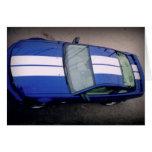 Tarjeta coche-azul del músculo