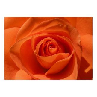 Tarjeta color de rosa anaranjada del ATC que brill Tarjetas De Visita