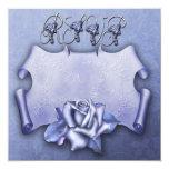 Tarjeta color de rosa azul de RSVP Invitación 13,3 Cm X 13,3cm