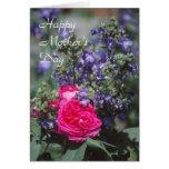 Tarjeta color de rosa del día de madre