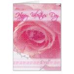 Tarjeta color de rosa del el día de San Valentín