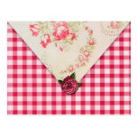 Tarjeta color de rosa elegante de la receta postales