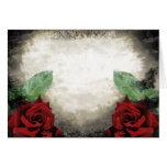 Tarjeta color de rosa gótica Vintage-Inspirada