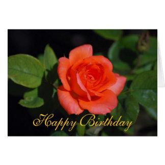 Tarjeta color de rosa grandiflora anaranjada del