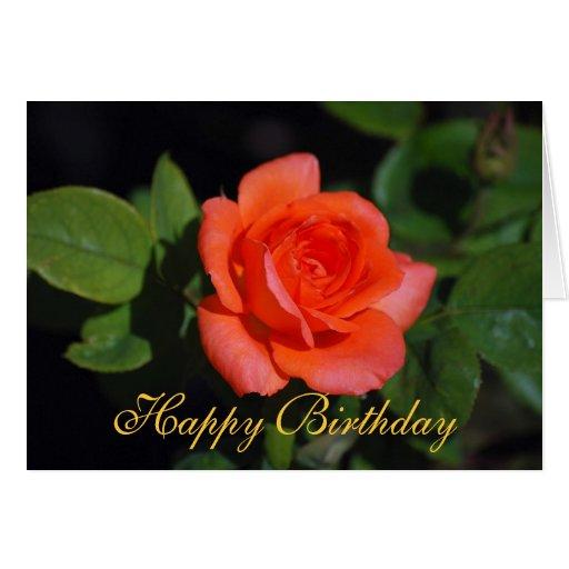 Tarjeta color de rosa grandiflora anaranjada del f