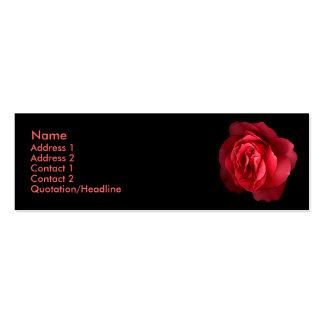 Tarjeta color de rosa magnífica del perfil tarjetas de visita mini