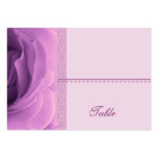 Tarjeta color de rosa púrpura del lugar de la orqu tarjetas de visita grandes