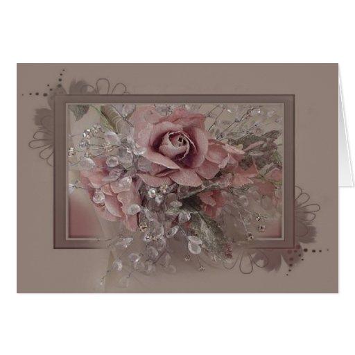 Tarjeta color de rosa rosa clara