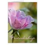 Tarjeta color de rosa rosada de la amistad
