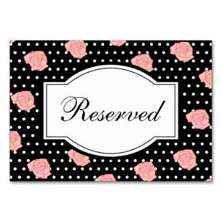 Tarjeta color de rosa rosada de la tabla