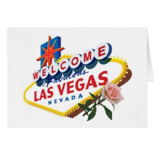 Tarjeta color de rosa rosada de Las Vegas