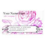 Tarjeta color de rosa rosada del perfil tarjetas de visita
