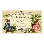 Tarjeta color de rosa y del arrendajo azul del neg tarjeta de visita