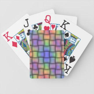 Tarjeta coloreada del arco iris elegante - armadur barajas de cartas