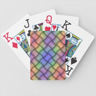 Tarjeta coloreada del arco iris elegante - Weave2  Baraja