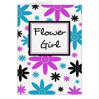 Tarjeta colorida de Inivtation del florista de las