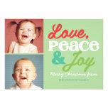 Tarjeta colorida de la foto de la familia del amor invitación personalizada