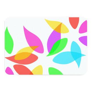 """Tarjeta colorida de la respuesta de los pétalos invitación 3.5"""" x 5"""""""