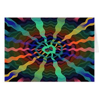Tarjeta colorida de las ondas