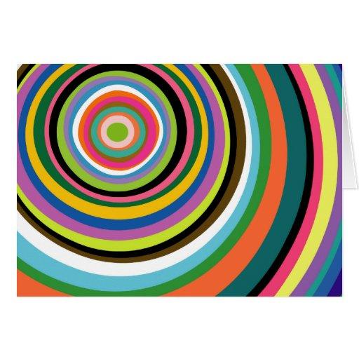 Tarjeta colorida de los anillos