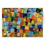 Tarjeta colorida de los cuadrados
