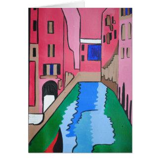 Tarjeta colorida de Venecia