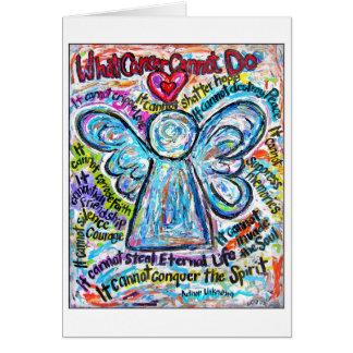 Tarjeta colorida del ángel del cáncer