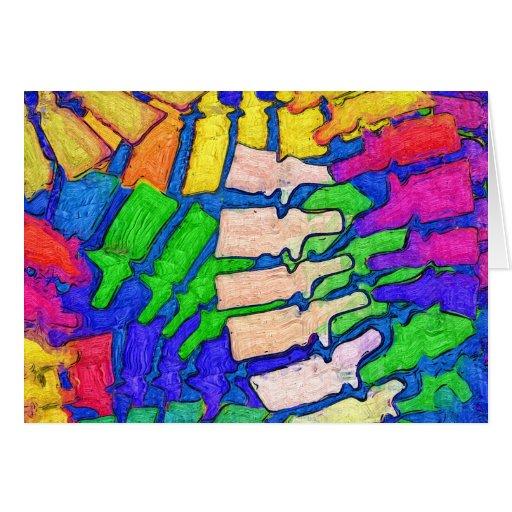 Tarjeta colorida del arte de la espina dorsal