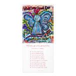 Tarjeta colorida del estante del ángel del cáncer diseños de tarjetas publicitarias
