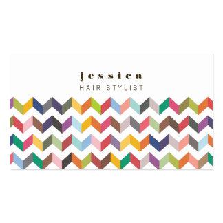 Tarjeta colorida del estilista del modelo de las f plantilla de tarjeta de visita