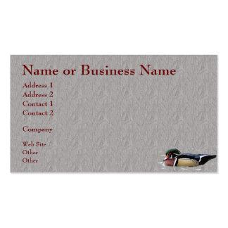 Tarjeta colorida del negocio o del perfil del pato tarjetas de negocios