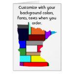 Tarjeta colorida del personalizar de Minnesota cóm