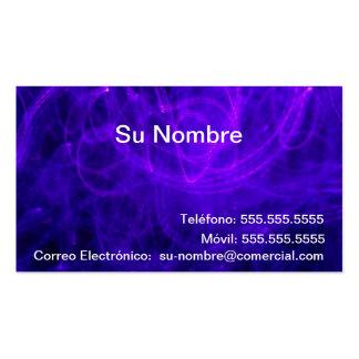 Tarjeta Comercial - Azul y Rosa Tarjeta De Negocio