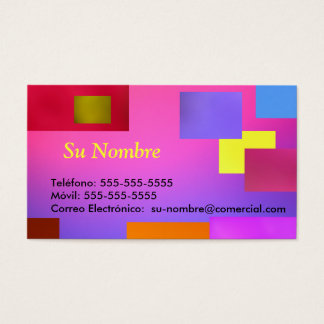 Tarjeta Comercial - Multicolor Business Card