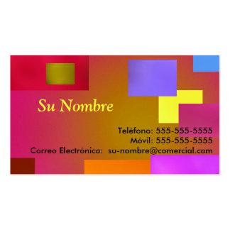 Tarjeta Comercial - multicolor Plantillas De Tarjetas De Visita