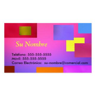 Tarjeta Comercial - multicolor Tarjetas De Visita